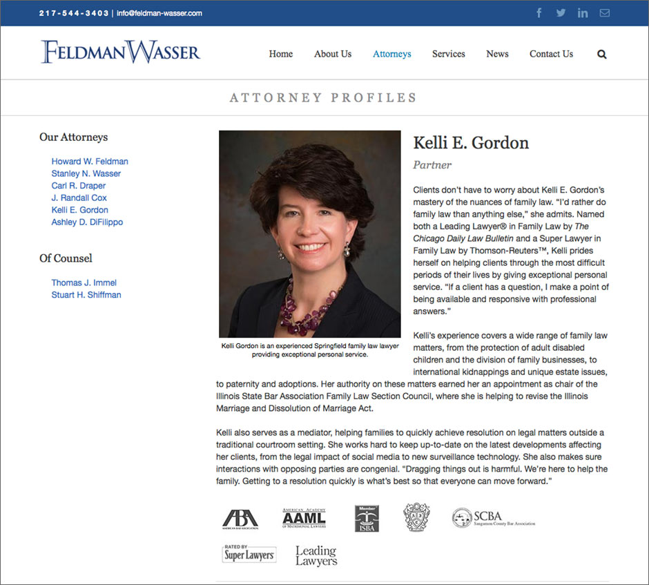 FeldmanWasser Law Firm Website