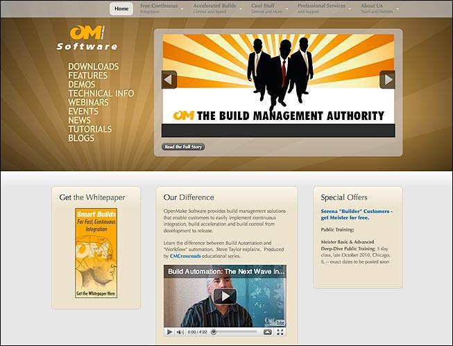 OpenMake Software Website