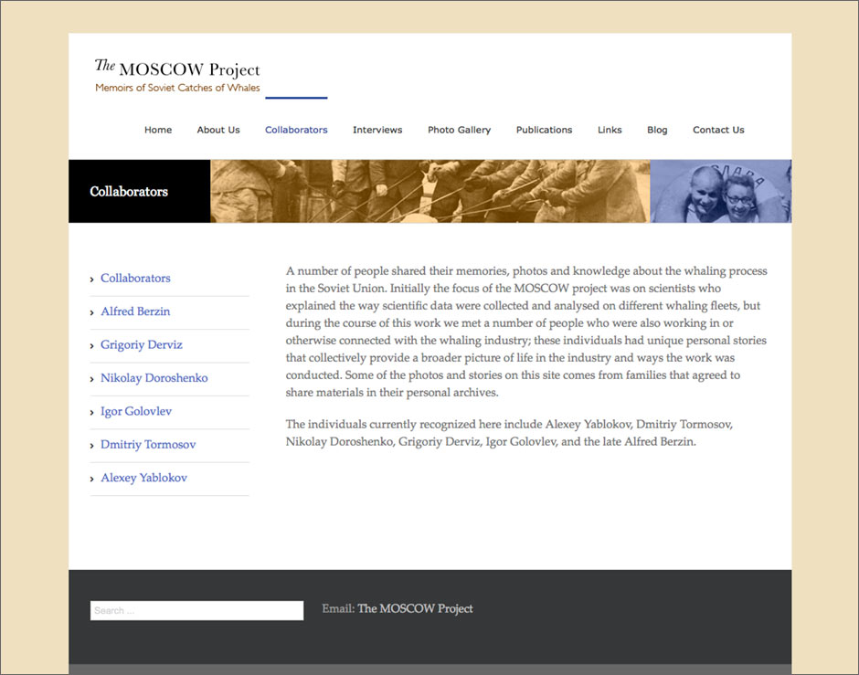 The Moscow Project Website