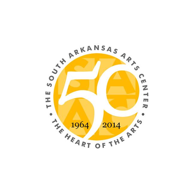 South Arkansas Arts Center 50th Anniversary Logo