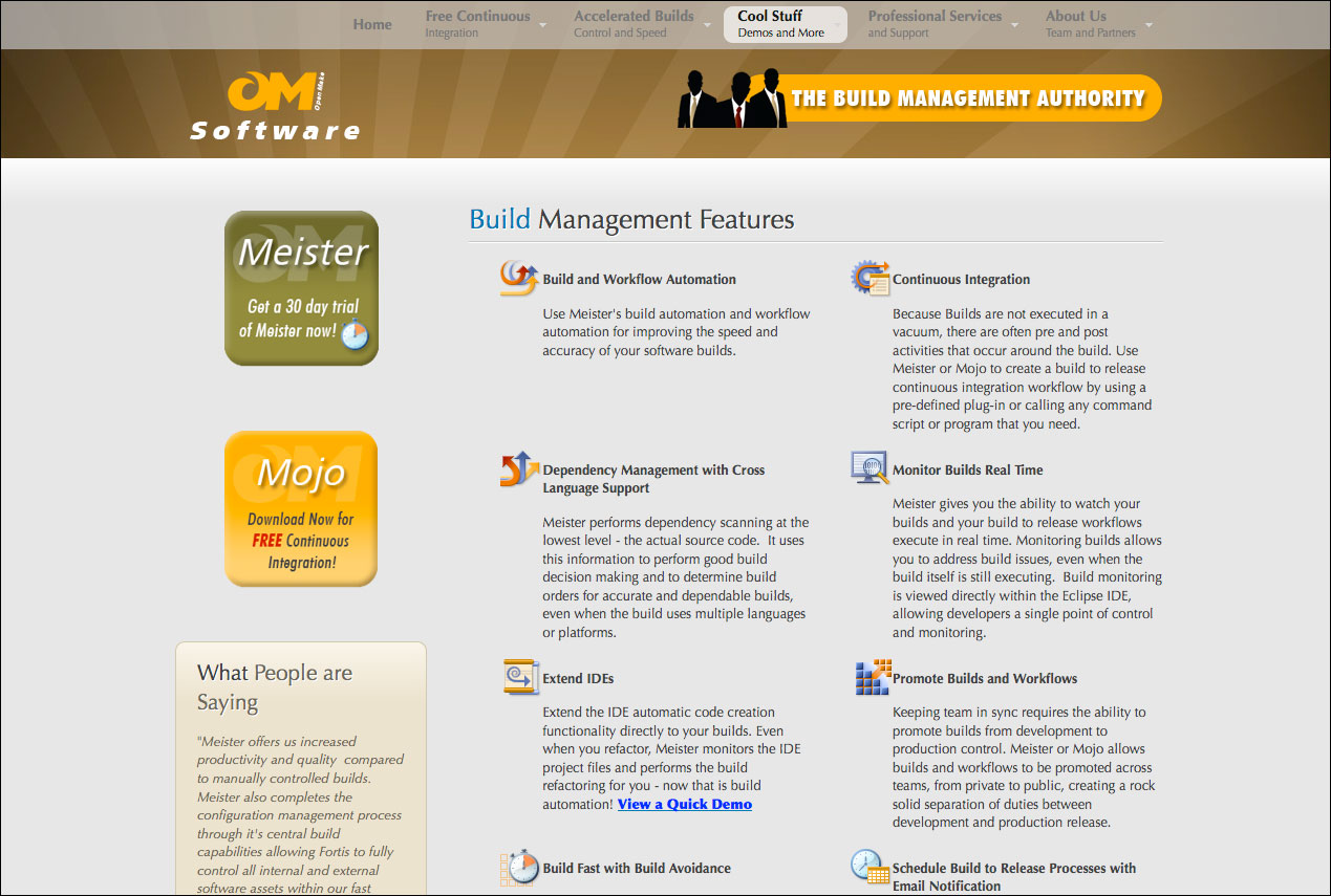 OpenMake Software Features