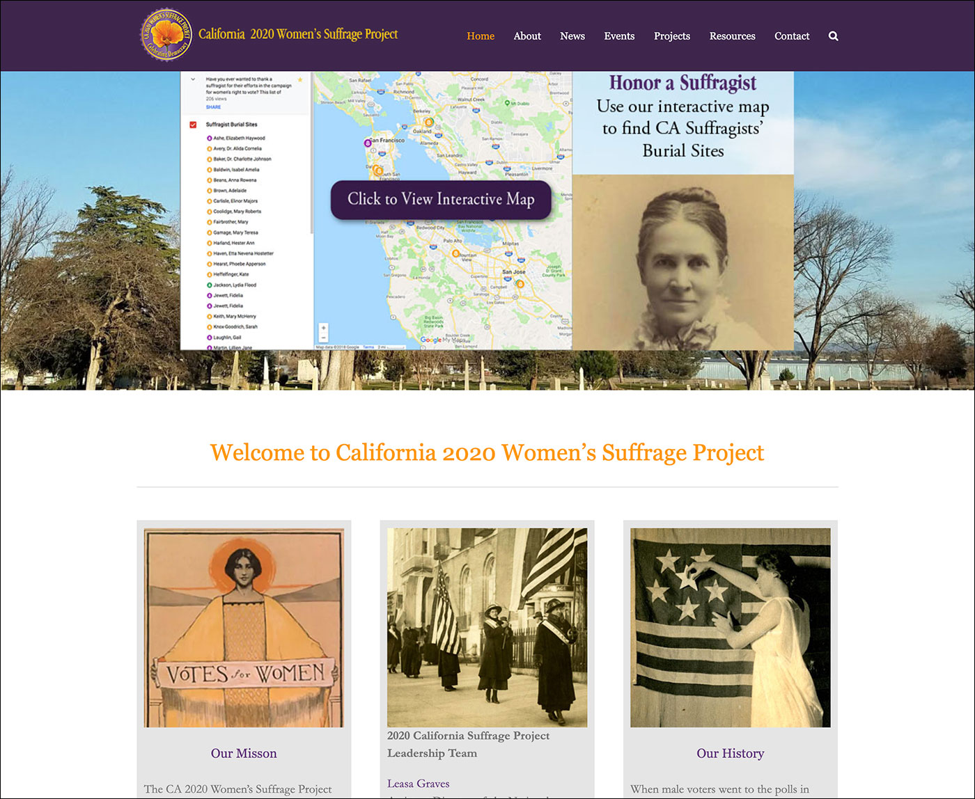 California Women's Suffrage Project Home