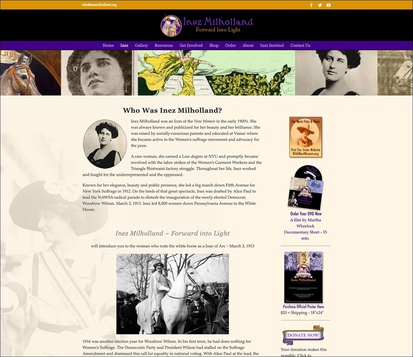 Inez Milholland History