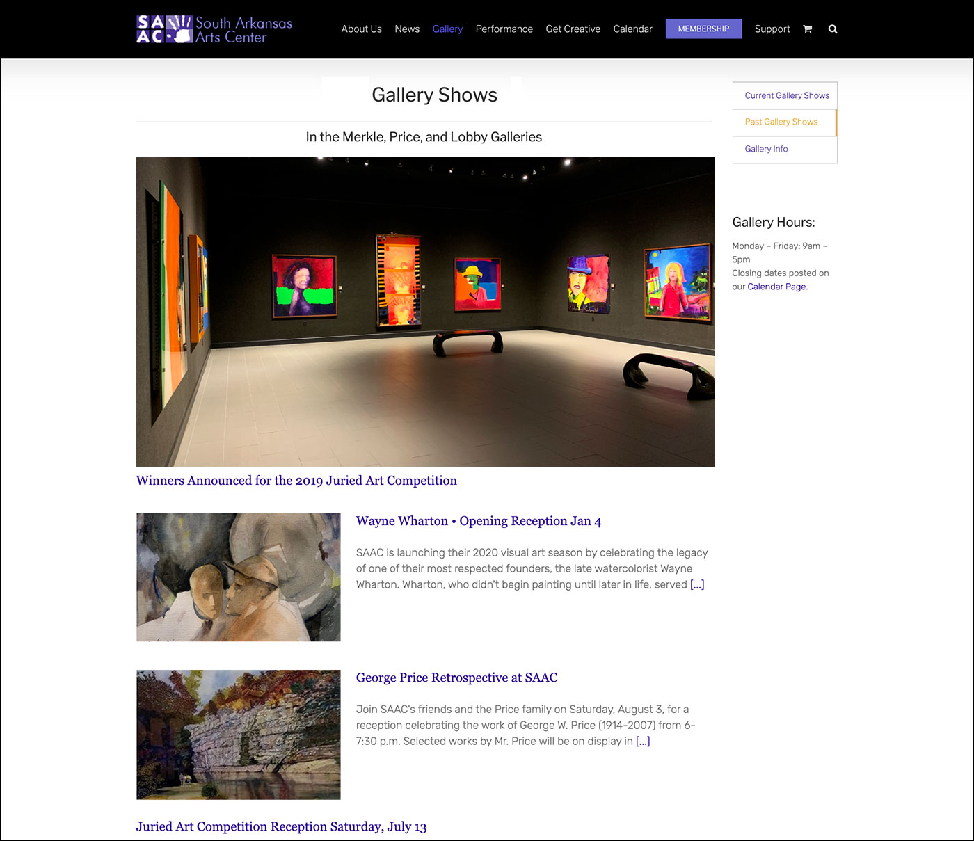 South Arkansas Arts Center - Gallery