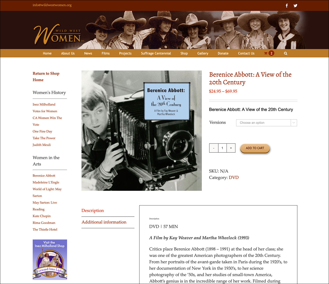 Wild West Women Product Page
